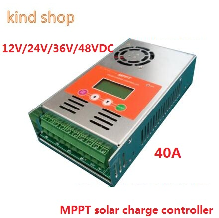 high quality with 2 years warranty 40A 12V/24V/36V/48VDC auto work MPPT Solar Charge Controller high quality 2 years warranty 350w 48v 7 3a power supply