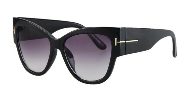 Luxury Brand Designer Women Sunglasses Oversize Acetate Cat Eye Sexy Shades