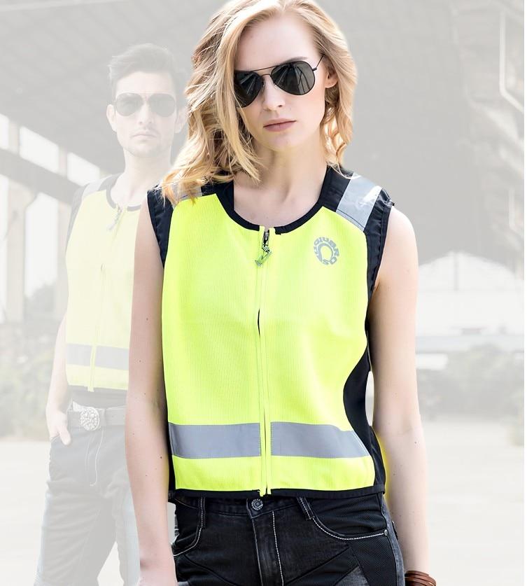 2017 Free Shipping uglybros night reflective riding vest unisex fluorescent yellow motorcycle vest safe riding moto vest