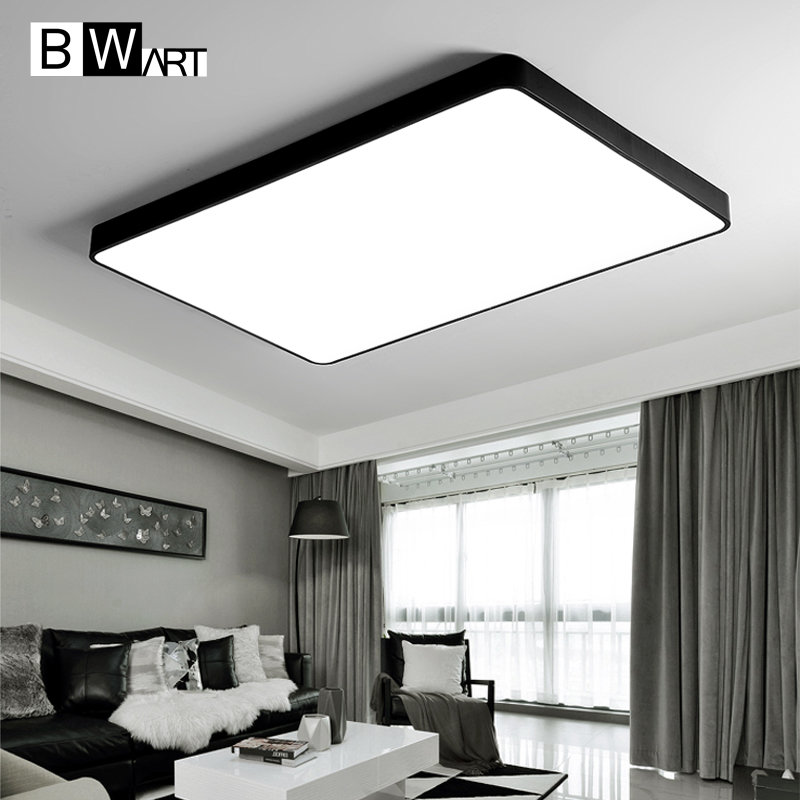 BWART Modern LED ceiling lamp for the Office guest living study bed room Home Black white rectangle Decoration ceiling light цена