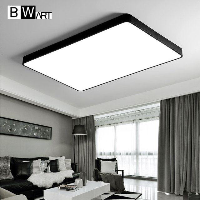 BWART Modern LED ceiling lamp for the Office guest living study bed room Home Black white rectangle Decoration ceiling light