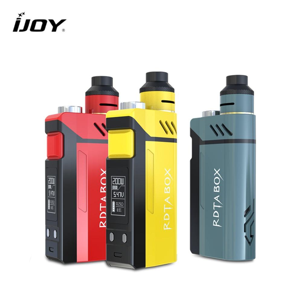 все цены на  Original IJOY RDTA BOX 200W Kit 12.8ml E-juice Capacity Electronic Cig Kit NI/TI/SS with IMC Building Deck Vaporizer E-cigarette  онлайн