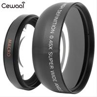Cewaal 0.45x52mm Ad Alta Definizione Super Wide Angle Lens Macro per Canon Nikon Camcorder Fotocamera Cam Carry Bag