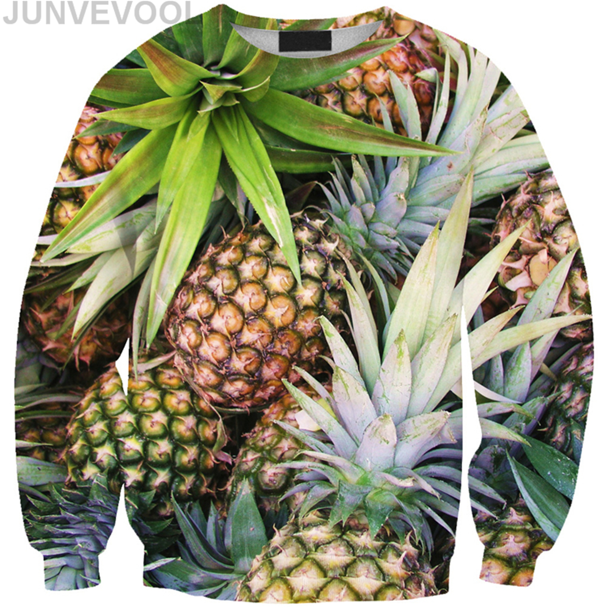 Free Size Pineapple Digital Printed Tees Hoodies Women Casual Long Sleeve Fruit 3D Printing Ladies Hot Sale Sweatshirts Clothing