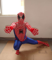 2014 New Spiderman Costume Spandex High Elasticity Spiderman Costume For Halloween Party Show