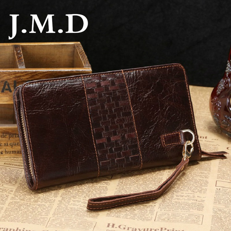 J.M.D 2019 New Arrival Brand Wallet Real Cowhide Leather Stylish Female Wallets Clutch Bags Purses For Women Hand Bag 802(China)