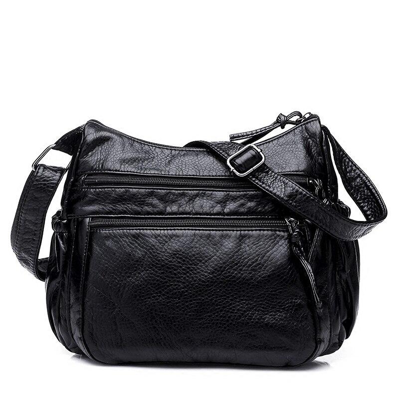 Vintage-mode Crossbody-tasche frauen Klappe Pu-leder Tasche Handtasche Sac ein Haupt Femme Damen Umhängetasche Langen Riemen Weibliche kupplung