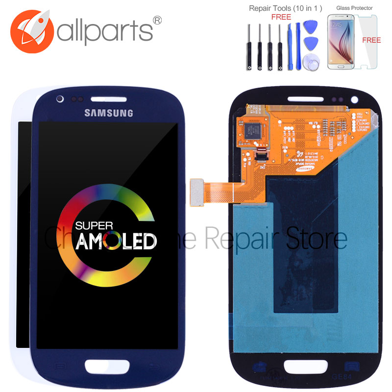 Original Super AMOLED LCD for SAMSUNG Galaxy S3 Mini LCD Display i8190 GT-i8190 i8195 i8200 Touch Screen Digitizer Replacement