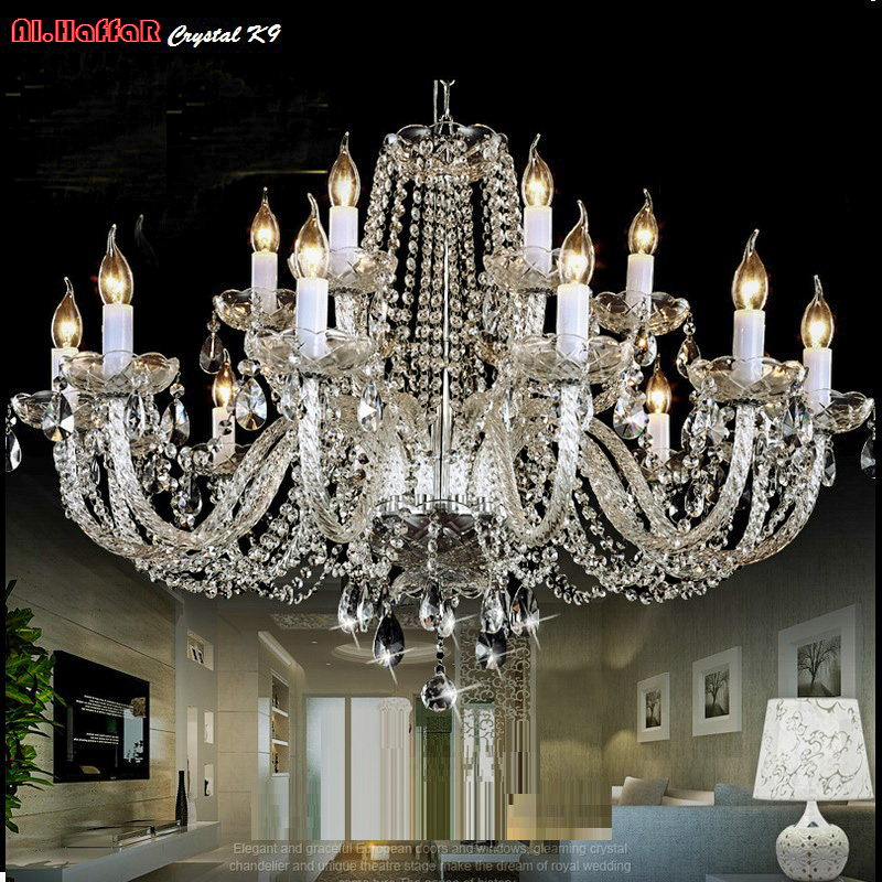 Modern Crystal Chandelier Lighting Luxury Clear crystal Chandeliers Lamp Suspended Light Lustres De Cristal Lamp Hotel LightingModern Crystal Chandelier Lighting Luxury Clear crystal Chandeliers Lamp Suspended Light Lustres De Cristal Lamp Hotel Lighting