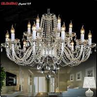 Modern Crystal Chandelier Lighting Luxury Clear crystal Chandeliers Lamp Suspended Light Lustres De Cristal Lamp Hotel Lighting