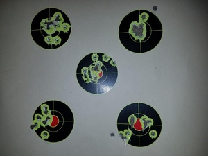 Image 2 - Paquete de 50 pegatinas de tiro, objetivos de ráfaga pegatinas de 2 pulgadas, salpicaduras, objetivos de disparo autoadhesivos reactivos Gu  Rifle