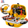 Construction Tools Toy Set For Baby Boy Plastic Chainsaw Screws Hammer Pretend Play Kids Suitcase Garden