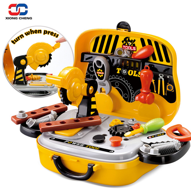Cat Construction Toys For Boys With Drill : Construction tools toy set for baby boy plastic chainsaw