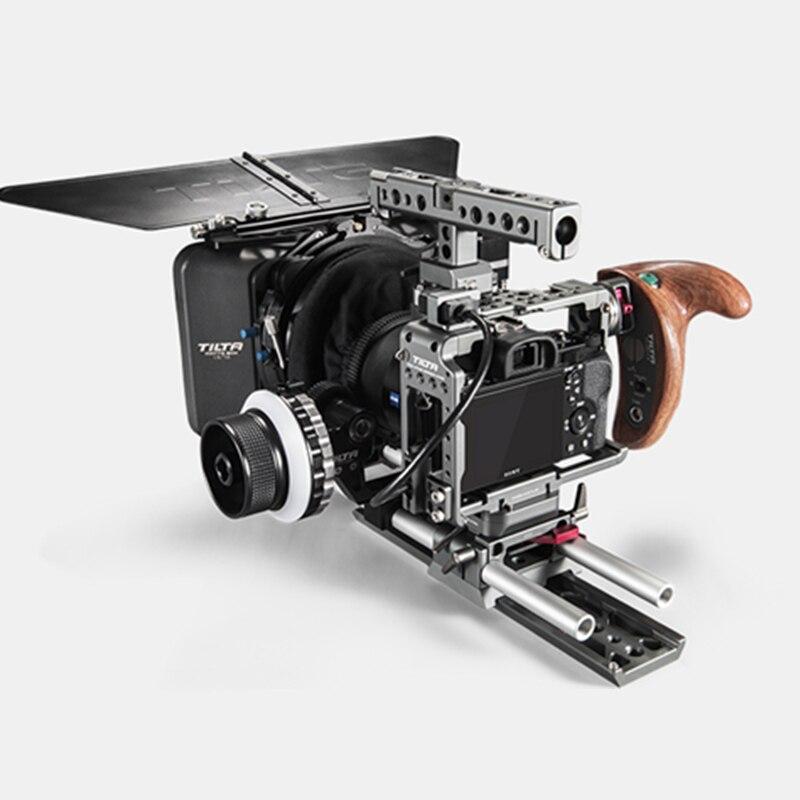 Tilta ES-T17-B Rig Kit Cage Pour Sony A7 A9 A7III A7R3 A7M3 A7S3 A9 R/S poignée Follow focus porte-cache Pour SONY A7/A9 caméra
