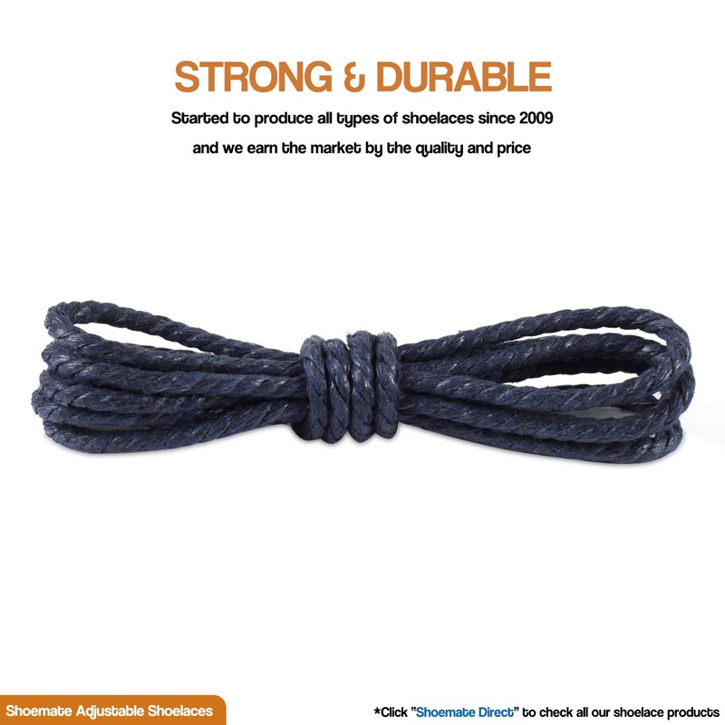 1 Pair Waxing Round Shoelaces High Quality Classic Sport Shoe laces Outdoor Martin Boots Unisex Shoe lace 60 90 120 150CM in Shoelaces from Shoes