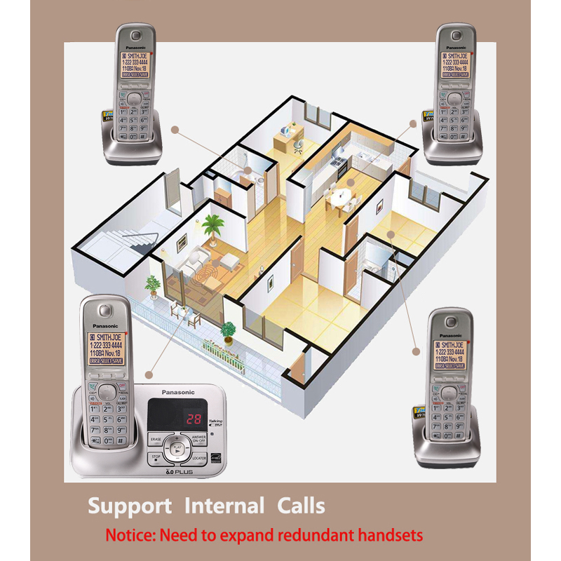 Ultimate SaleCordless-Phone Fixed Digital Smart Office Handfree Home with Voice-Mail Backlit LCD Wireless