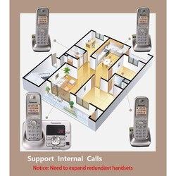 Telefone sem fio digital inteligente com handfree correio de voz retroiluminado lcd fixo sem fio para escritório casa bussiness