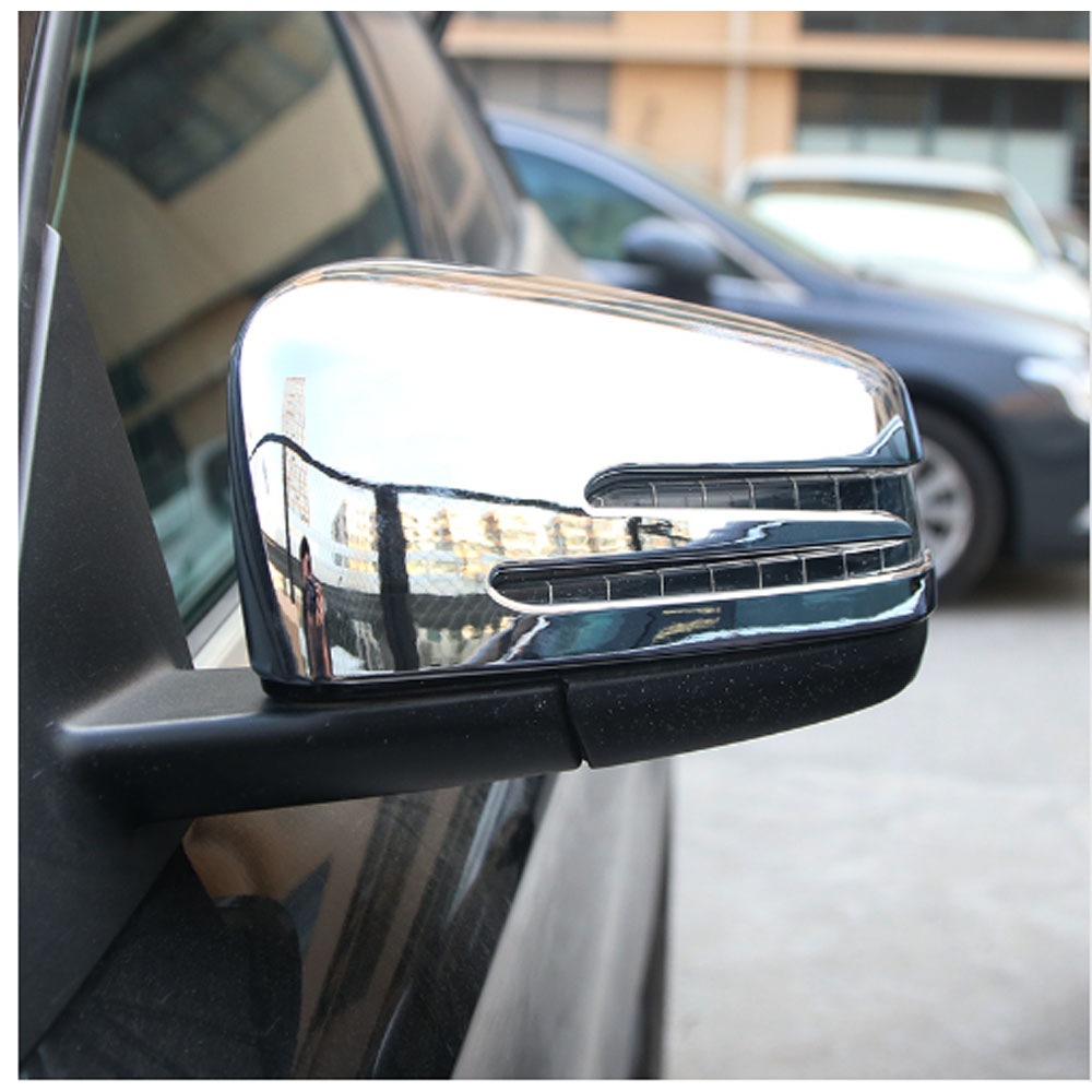 ABS Chrome Side Door Mirror Frame Cover Car Accessory For Mercedes Benz A CLA GLA GLK Class W117 W176 2014-17 for mercedes benz cla c117 w117 2014 2015 carbon fiber side door rearview mirror cover trim
