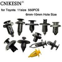 CNIKESIN 550 ADET 6mm-10mm Delik Boyutu Oto Bağlantı Elemanları Tampon Çamurluk Itme Tipi Plastik Sabitleme Klipleri Raptiye Toyota için perçinler