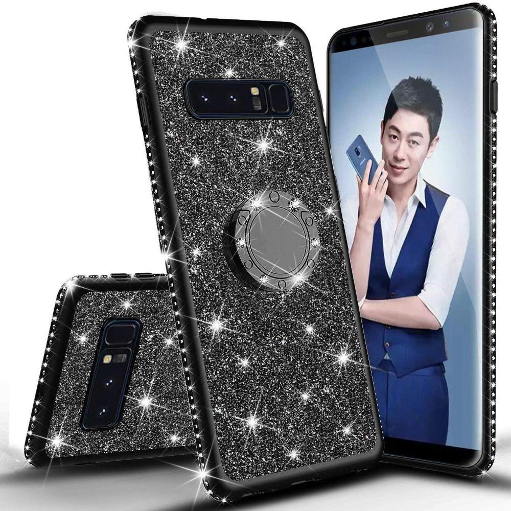 Diamond Case for Samsung Galaxy S10 Plus S10E S7 Edge S8 S9 Note 9 8 Cover For Samsung A6 A8 Plus A7 J7 2018 Glitter Bumper Case (4)