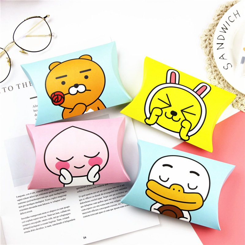 Children Cartoon Candy Gift Packaging Box Candy Pillow Box Packing Paper Box Party Supplies