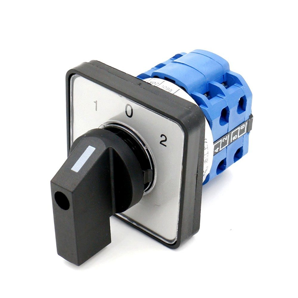 Rotary Universal Changeover Switch SZW26-20/D202.2 660V 20A 1-0-2 3 Positions 8 terminals Latching function Rotary Universal Changeover Switch SZW26-20/D202.2 660V 20A 1-0-2 3 Positions 8 terminals Latching function