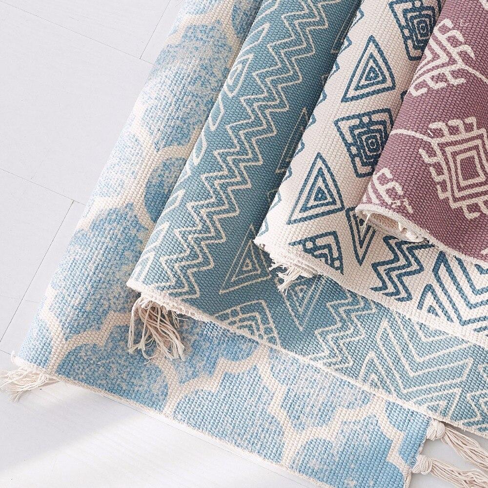 Kelim blau 100% baumwolle wohnzimmer Teppich geometrische Indische ...