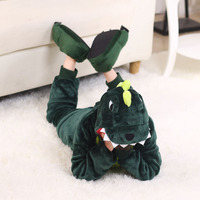 Flannel children dinosaur cartoon conjoined baby animal Pikachu lovely parent child family clothing