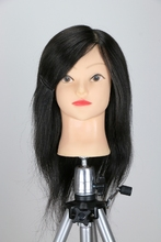 14inch 100% Real Hair Styling Doll Head Cosmetology Hairdressing Dolls Practice Training Mannequin
