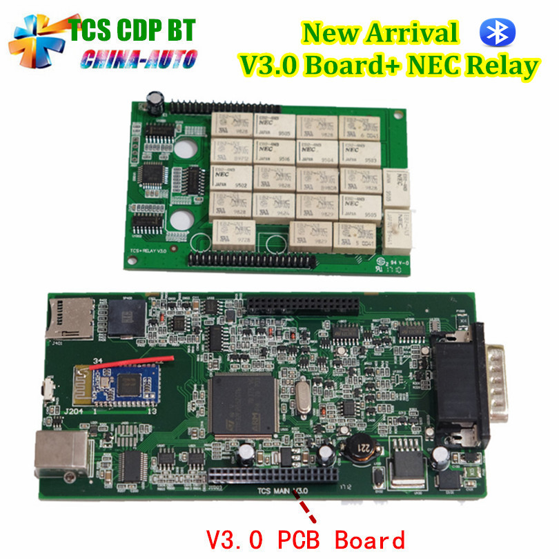 Best TCS CDP Pro V3.0 Board+ NEC Relay 2016.0 Software With Keygen obd2 Cars or Trucks Diagnostic Tool Black-Red or Black Color