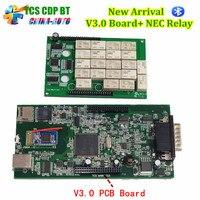 Mejor TCS CDP Pro V3.0 Junta + NEC Relay 2015.3 Software Con Herramienta de Diagnóstico obd2 Coches o Camiones Keygen Negro-Rojo o Negro Color