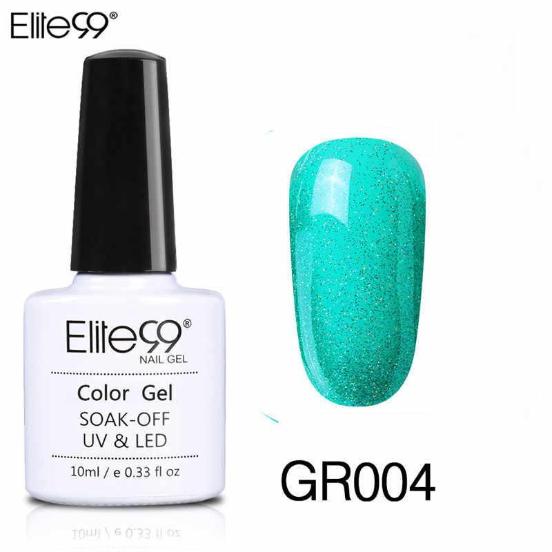 Elite99 10ml yeşil renk UV LED lamba tırnak jeli oje jelpolish DIY Nail Art hibrid vernik kapalı islatın jel cila gelLak