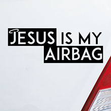 18x7cm Auto Aufkleber JESUS Is My Airbag Glaube Kirche Sticker Fun Personality Creative Vinyl Decor Decals