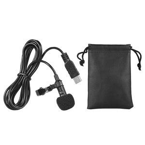 Image 5 - 150 cm Professionele Mini USB Omni Directionele Stereo Mic Microfoon met Kraag Clip voor Gopro Hero 3 3 + 4