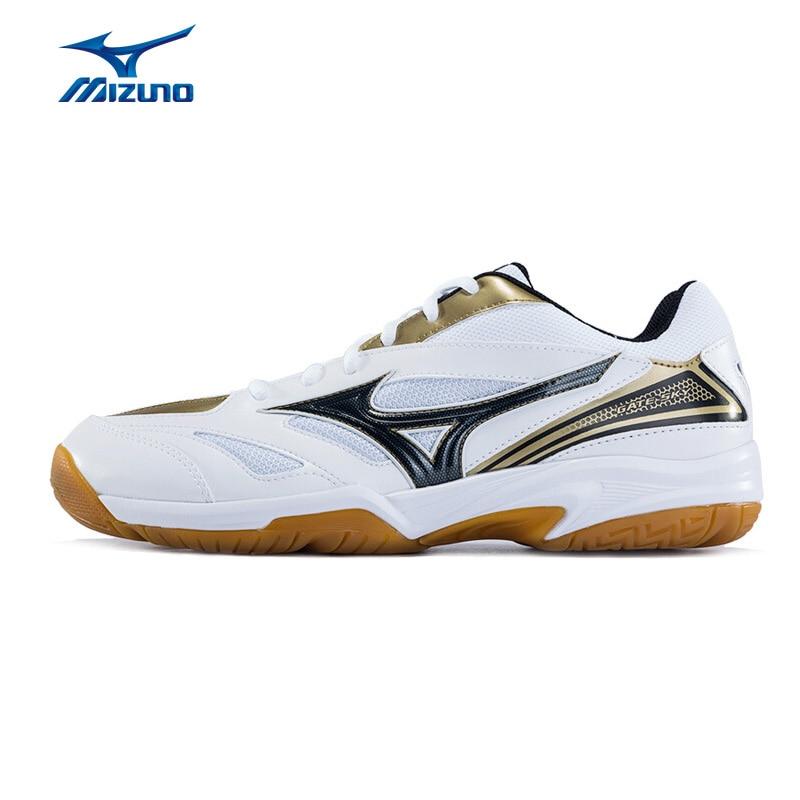 MIZUNO Men GATE SKY Badminton Shoes Breathable Sports Shoes Anti-Slippery Sneakers 71GA174008 XYY042 mizuno men rebula v3 ag professional cushion soccer shoes sports shoes comfort wide sneakers p1ga178603 yxz069