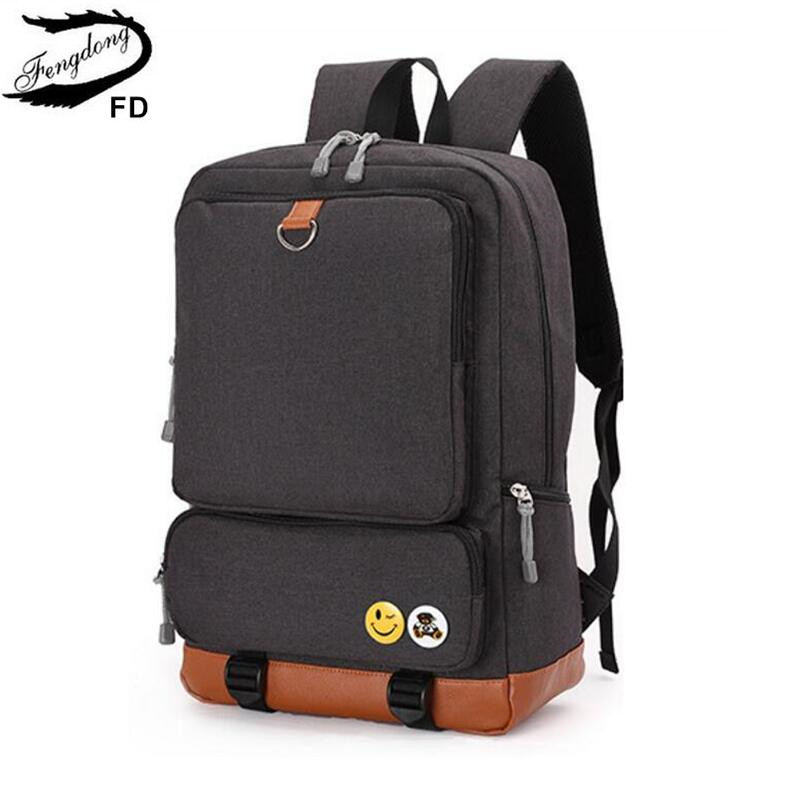 FengDong school backpacks for boys black laptop computer backpack kids school bag bagpack men travel bags backpacks for children instantarts cute children pug dog backpack men felt travel backpacks for teenege boys 3d animal printed student school bagpack