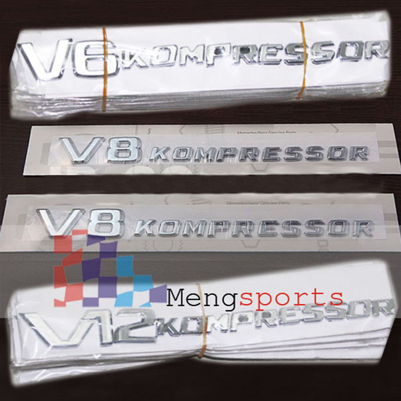 20pcs V6 V18 V12 Letter KOMP Edition Boot Car Styling Badges Emblem Car Styling Shipping Free