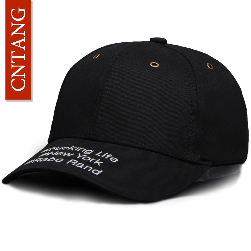 CNTANG Brand 2017 Novelty Caps Hip Hop Visor Letter Buckle Baseball Cap Cotton High Quality Snapback Men Women Casual Dad Hat cntang men women suede baseball cap snapback street hip hop hat winter autumn fashion vintage caps for unisex brand casual hats