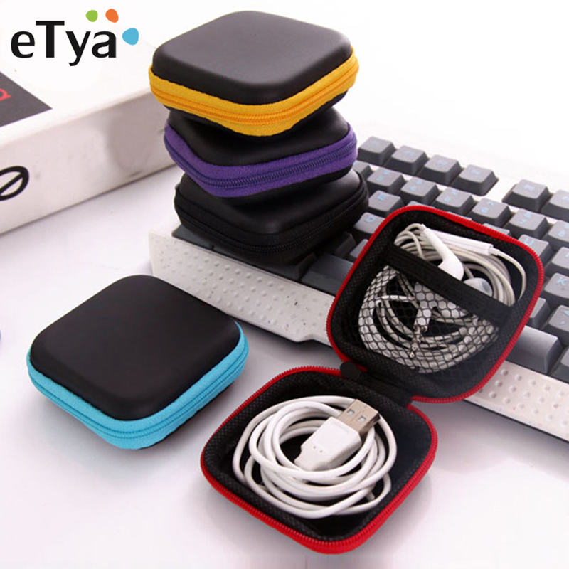 ETya Brand Coin Purse Portable Mini Wallets Travel Electronic SD Card USB Cable Earphone Phone Charger Storage Case Gift Pouch