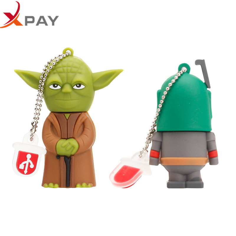 Image 2 - USB 2.0 Yoda Star wars USB flash drive pendrive cartoon Silicone 128GB 64GB 16GB 8GB 4GB all styles usb flash 32GB free shipping-in USB Flash Drives from Computer & Office