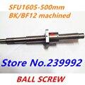 SFU1605 швп SFU1605 500 мм Швп Проката 1 шт. L 500 мм с 1605 Фланец шариковой гайки одной для ЧПУ частей BK/BF12 механической обработке