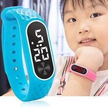 Новые детские часы, детский светодиодный цифровой спортивный часы для мальчиков и девочек, мужские и женские электронные наручные часы с силиконовым браслетом, Reloj Nino