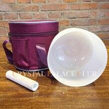 """1"""" Хрустальная Поющая чаша с сумкой для переноски замшевый молоток и резиновое уплотнительное кольцо бесплатно"""