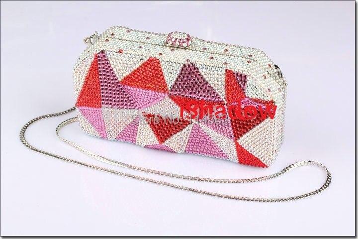 ФОТО 8013C Crystal Lady fashion Bridal Night Metal Evening purse clutch bag case handbag