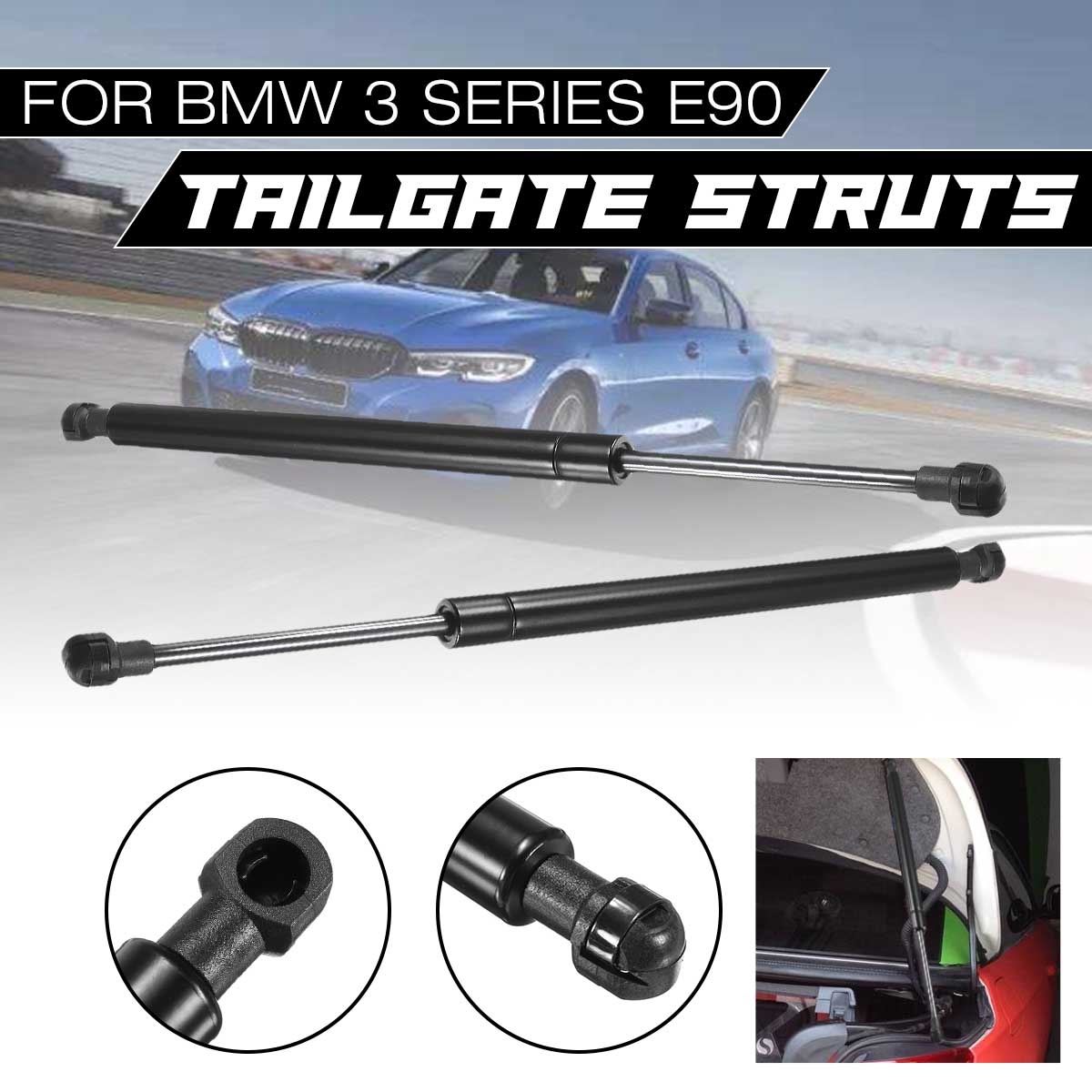 2X for BMW 3 Series E90 Tailgate Trunk Gas Spring Hood Lift Supports Strut Shock 512470606232X for BMW 3 Series E90 Tailgate Trunk Gas Spring Hood Lift Supports Strut Shock 51247060623