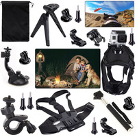 Action Outdoor Sport Kits For Gopro Hero5 Session Black Silver Hero4 3 Tripod Dog Chest Strap