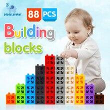 DODOELEPHANT 88/138 unids Tamaño Grande Juguetes Ladrillos DIY Bloques de Construcción de Plástico Modelo de Aprendizaje Creativo Montaje Colorido Para los niños regalo