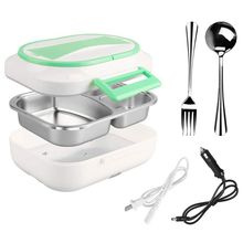 TOP!-Us Plug Portable Electric Lunch Box - Car Use 12V Home 110V Heating Food Heater, Bento Meal Warmer War