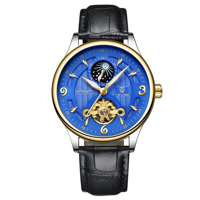 53b6caf174c TEVISE 2018 Homens De Luxo Relógio Mecânico Automático Relógios Auto- Liquidação À Prova D