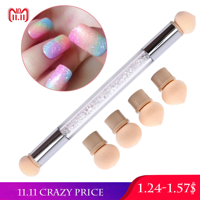 1pc Glitter Powder Nail Art Sponge Nail Brush Gradient Painting Rhinestone Handle Manicure Pen Nails Tips UV Gel Polish Tool New mercier р night train to lisbon